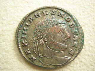 Ancient Rome Large Follis Galerius Moneta Siscia Xf S52 photo