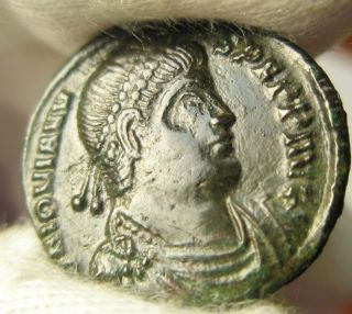 Ancient Rome Jovian Ae3 Centennionalis Vot Thessalonica Xf Scarce photo
