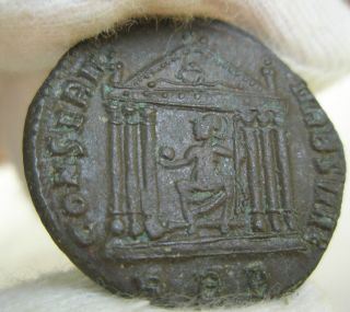 Ancient Rome Follis Maxentius Roma Temple Ef S46 photo