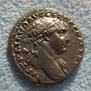 Ancient Rome Denarius Trajan Aequitas Xf - Ef photo