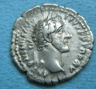 Ancient Rome Denarius Antoninus Pius Vesta Good F photo