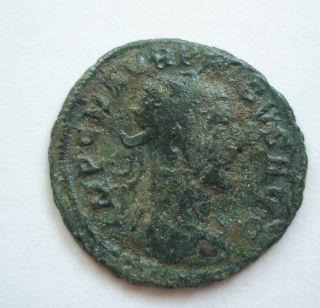 Ancient Rome Antoninianus Probus Clementia Jupiter Green Patina Fine S22 photo