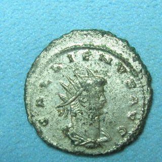 Ancient Rome Antoninianus Gallienus Roma Aeternae Vf Silver Billon 2 photo