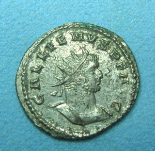 Ancient Rome Antoninianus Gallienus Roma Aeternae Vf Silver Billon photo