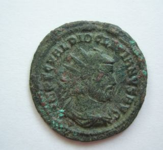 Ancient Rome Antoninianus Diocletian Concordia Militum Green Patina F/vf S23 photo