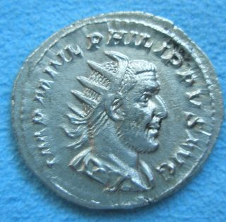 Ancient Rome Antoninianus Denarius Philip I Arab Roma Silver About Xf - Ef photo