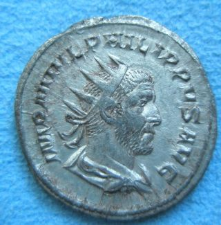Ancient Rome Antoninianus Denarius Philip I Arab Felicitas Silver Xf - Ef 2 photo