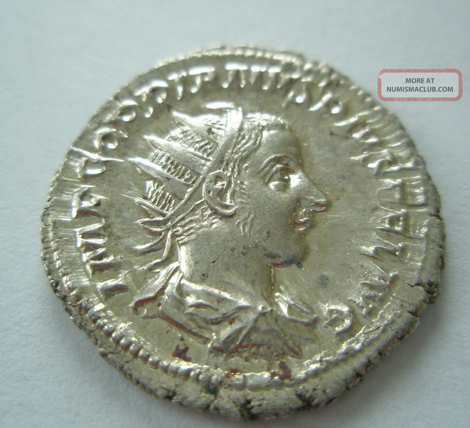 Ancient Rome Antoninianus Denarius Gordian Apollo Lyre Silver Xf - Ef Coins: Ancient photo