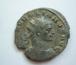 Ancient Rome Antoninianus Aurelian Concordia Militum Green Patina F/vf S19 photo