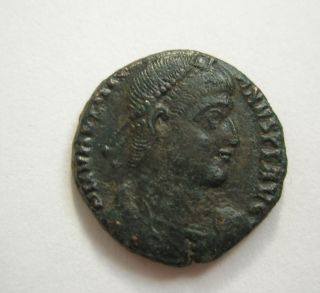 Ancient Rome Ae3 Valentinian Ii.  Securitas Victory Siscia Patina S37 photo