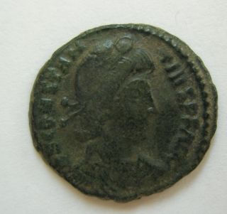 Ancient Rome Ae3 Constantius Ii.  Fallen Horseman Thessalonica Patina S40 photo