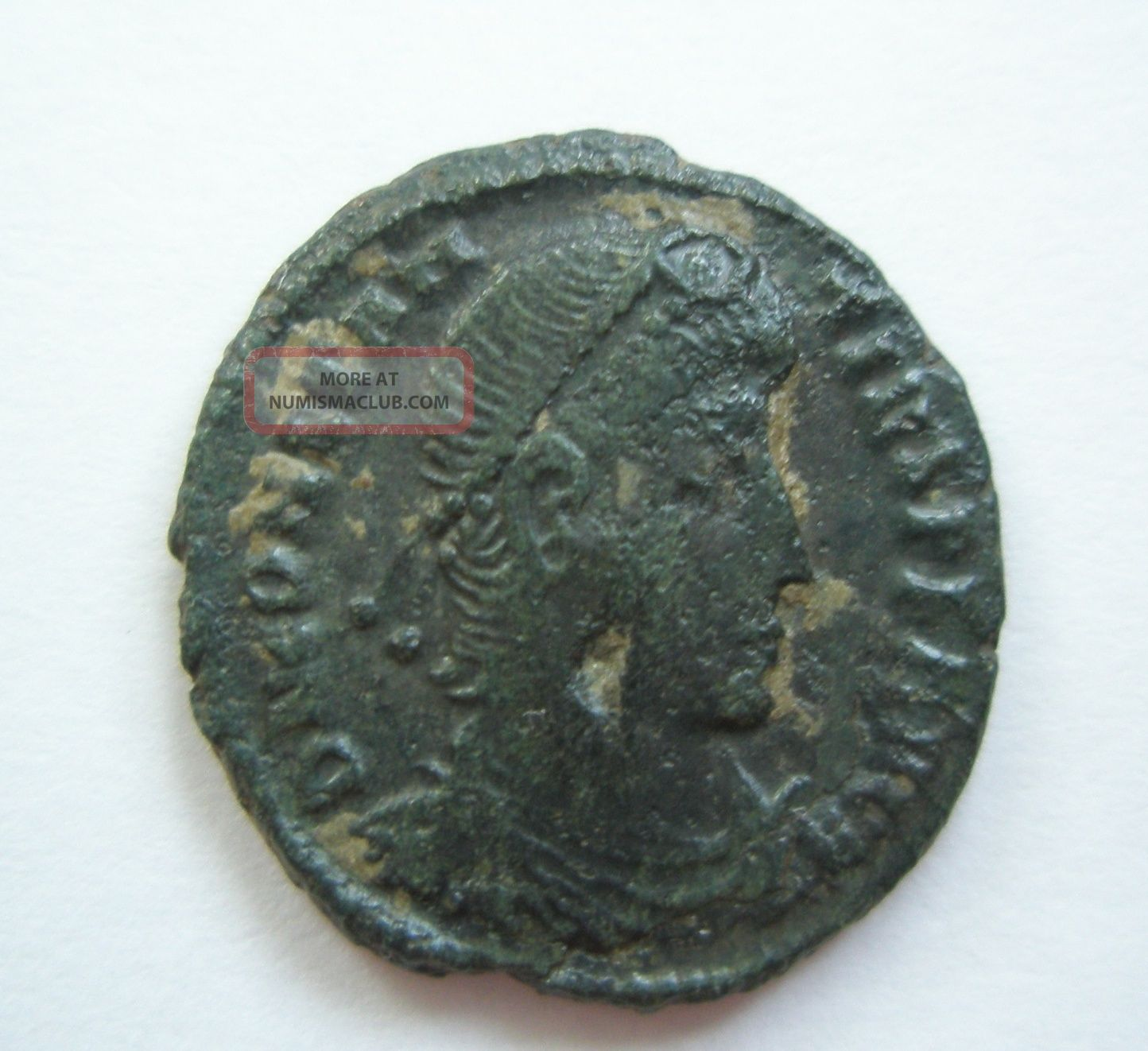 Ancient Rome Ae3 Constantius Ii.  Fallen Horseman Thessalonica Patina S30 Coins: Ancient photo