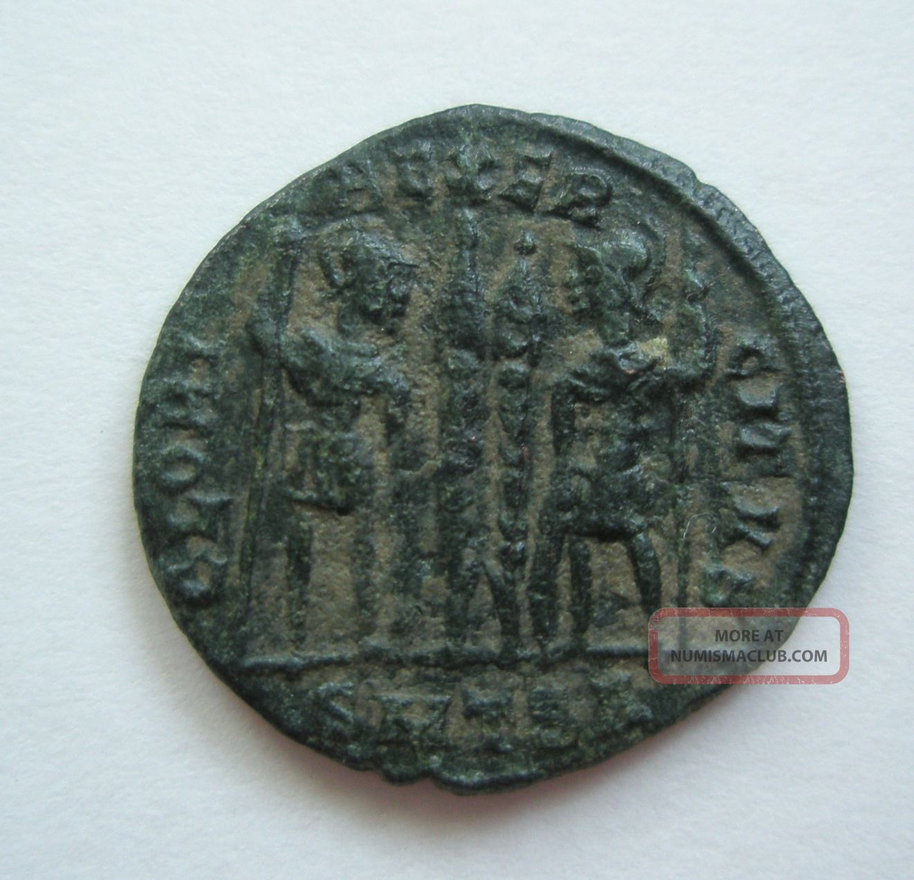 Ancient Rome Ae Nummus Constantine The Great Gloria Thessalonica Patina F S24 Coins: Ancient photo