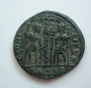Ancient Rome Ae Nummus Constantine The Great Gloria Thessalonica Patina F S24 photo