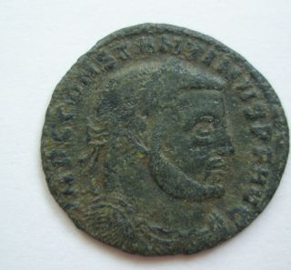 Ancient Rome Ae Follis Constantine The Great Conservatori Jupiter Patina S25 photo