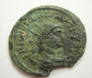 Ancient Rome Ae Antoninianus Numerian Providentia Ticinum Patina S38 photo