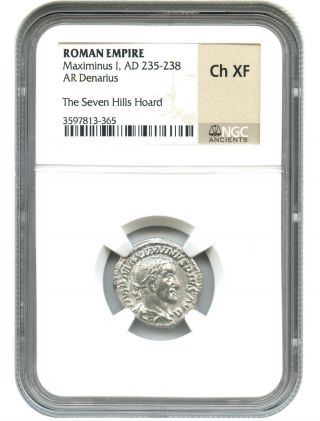 Ad 235 - 238 Maximinus I Ar Denarius Ngc Choice Xf (roman Empire) photo