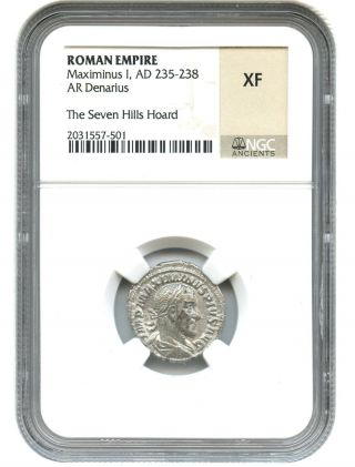 Ad 235 - 238 Maximinus I Ar Denarius Ngc Xf (roman Empire) photo