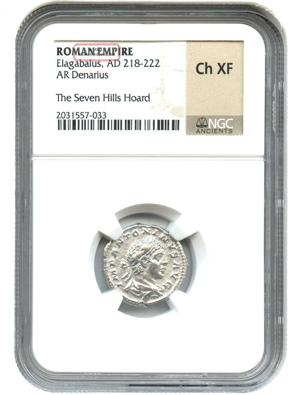 Ad 218 - 222 Elagabalus Ar Denarius Ngc Choice Xf (ancient Roman) Coins: Ancient photo