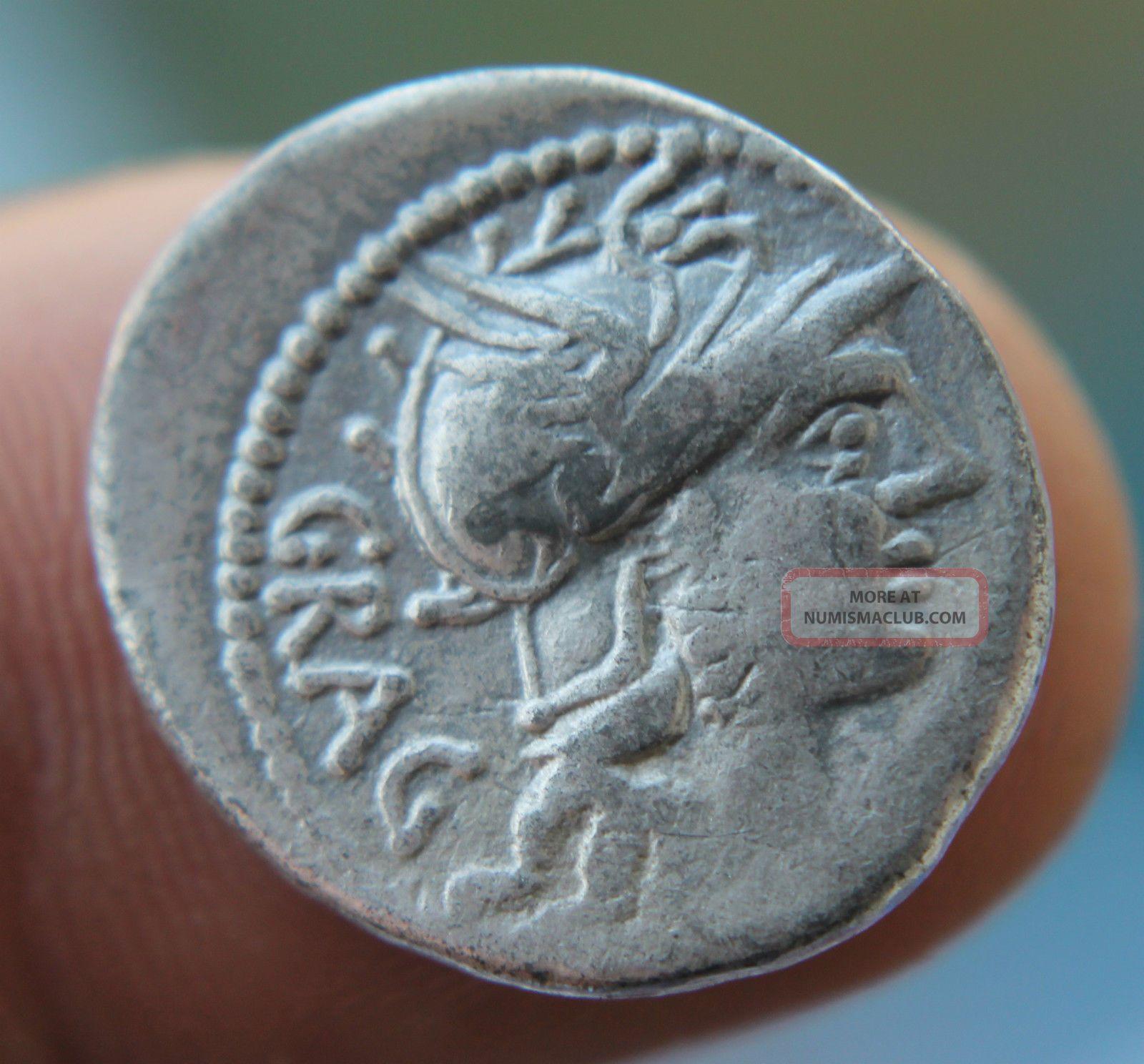 Roman Silver Republican Denarius Of L.  Antestius Gragulus.  Denarius 136 Bc Coins: Ancient photo