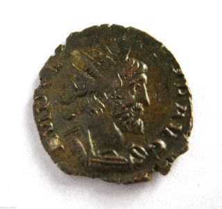 271 A.  D Gallic Empire Emperor Tetricus Roman Period Ar Billon Antoninus Coin.  Vf photo