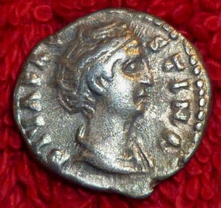 Roman Silver Denarius Of Faustina The Elder 100 - 140 Ad (454) photo