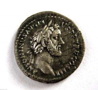 140 A.  D Emperor Antoninus Pius Roman Period Imperial Ar Silver Denarius Coin photo
