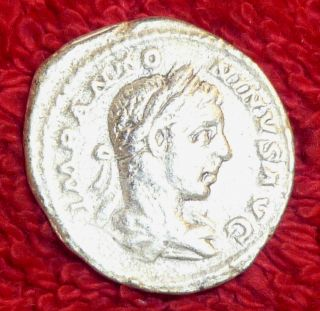Roman Silver Denarius - Elagabalus 218 - 222 Ad (458) photo
