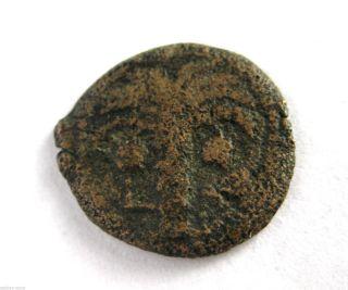 4 B.  C - 6 A.  D King Herod Archelaus Roman Provincial Bronze Prutah Coin.  Vf photo
