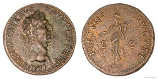Roman Æ Sestertius Of Nerva photo