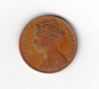 Half Farthing Model Gothic Head 1887 J Moor Birmingham photo