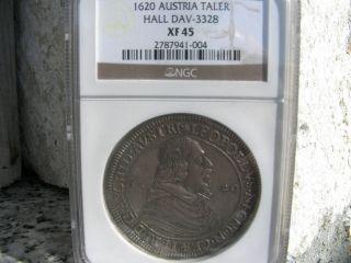 Austria Hall Leopold Silver Thaler 1620 Ngc Xf 45 photo