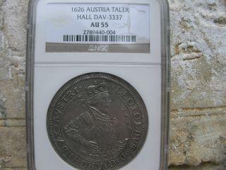 1626,  Austria Hall,  Leopold Silver Thaler,  Ngc Au 55,  Austria. photo