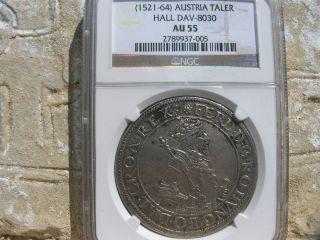 (1521 - 64),  Ferdinand I,  Austria Silver Taler,  Au 55 photo