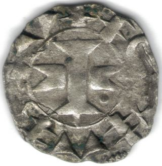 Tmm 966 - 1200 Immobilized Counts Of Melguel/ Lanquendoc,  Silver Denier 16mm photo