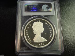 1976 Turks & Caicos Islands Proof 10 Crown Km 12 Pcgs Pr 68 Dcam photo