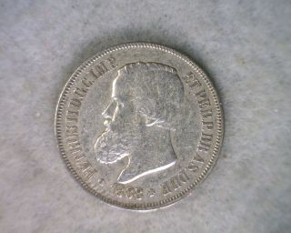 Brazil 500 Reis 1888 Silver Brasil Coin photo