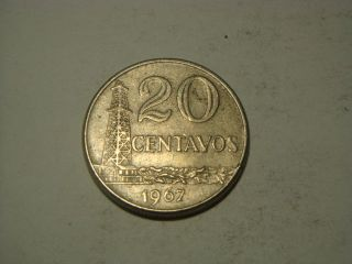 1967 Brazil 20 Centavos photo