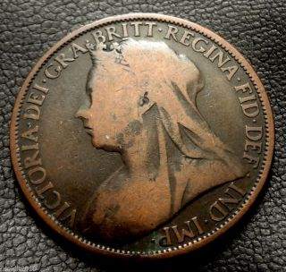 Old,  United Kingdom,  Gb.  1896 1 Penny Queen Victoria