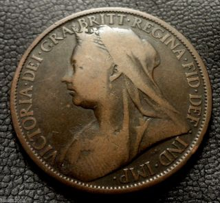 Old United Kingdom,  Gb.  1899 1 Penny Queen Victoria