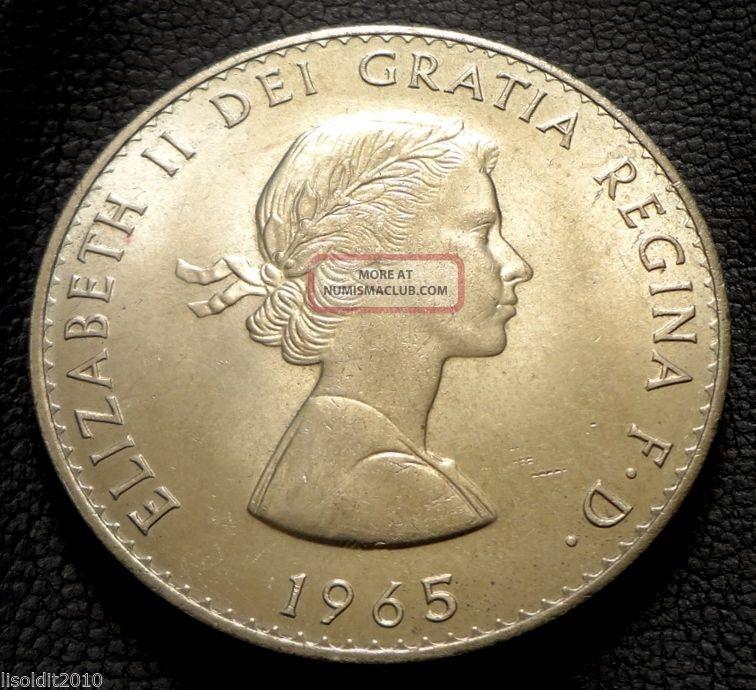 United Kingdom,  Gb.  1965 Crown Elizabeth Ii Death Of Churchill Coin UK (Great Britain) photo