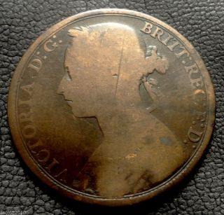 Old,  United Kingdom,  Gb.  1893 1 Penny Queen Victoria
