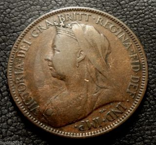Old United Kingdom,  Gb.  1900 ½ Penny Queen Victoria