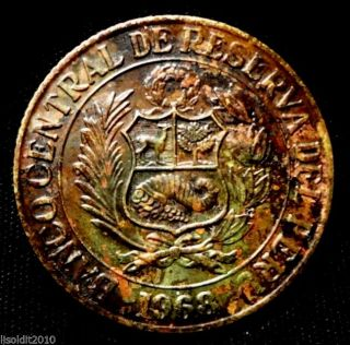 Peru,  1968 25 Centavos National Arms Coin photo