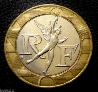 France 1990 10 Francs The Spirit Of Freedom,  Approximately Coin photo