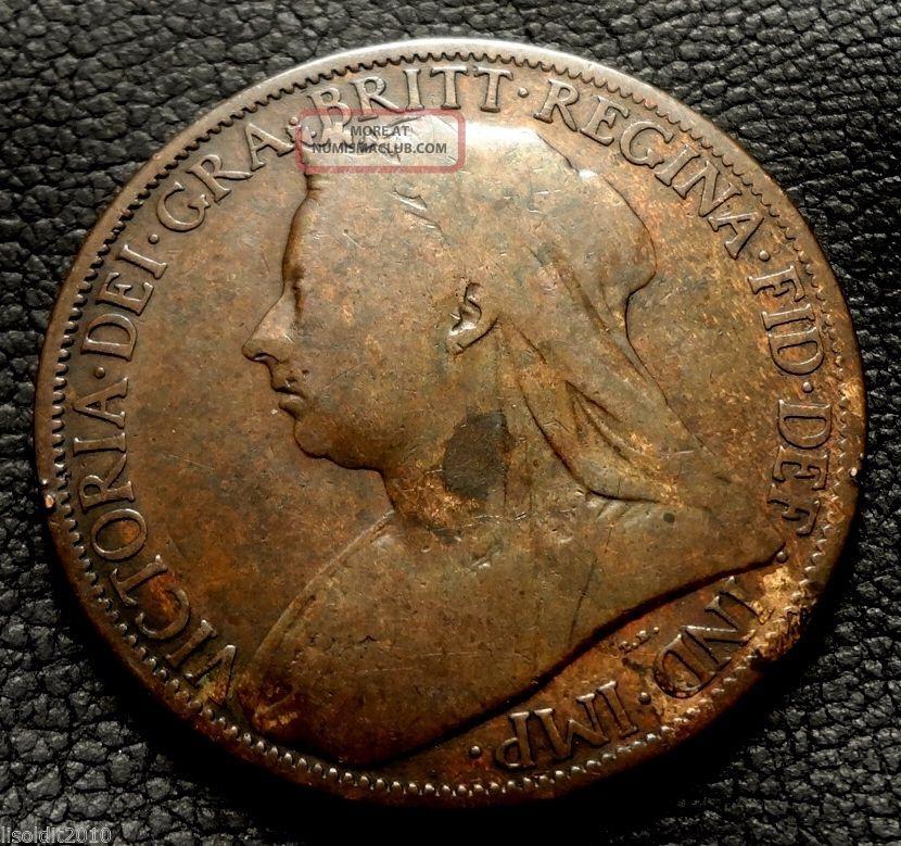 Old United Kingdom,  Gb.  1900 1 Penny Queen Victoria