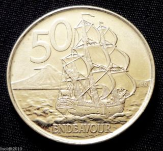 Zealand 2006 50 Cents Elizabeth Ii The Barque