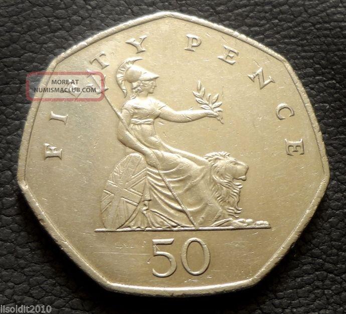 United Kingdom,  Gb.  1997 50 Pence Elizabeth