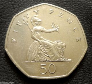 United Kingdom,  Gb.  1997 50 Pence Elizabeth