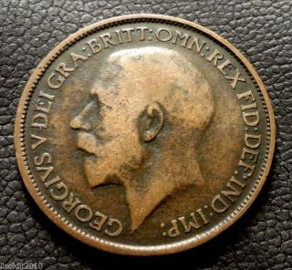 United Kingdom,  Gb.  1923 ½ Penny George V Seated Britannia Coin photo